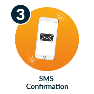 Pay by mobile casino - Step 3: SMS Confirmation