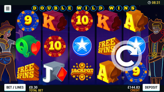 Playing Double Wild Wins online slots at Mr Spin online casino
