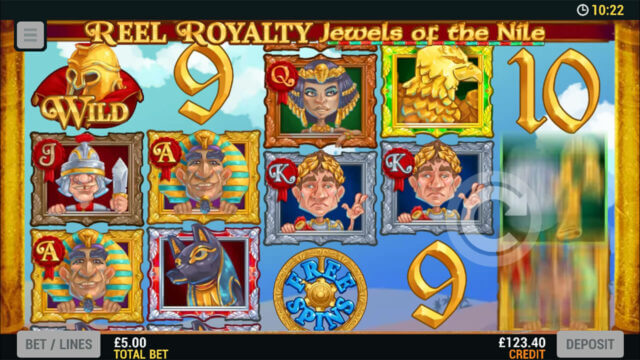 Playing Reel Royalty Jewels of the Nile online slots at Mr Spin online casino