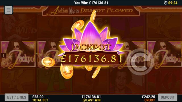 Winning Jackpot in Arabian Nights Tales of Gold online slots - Mr Spin online casino