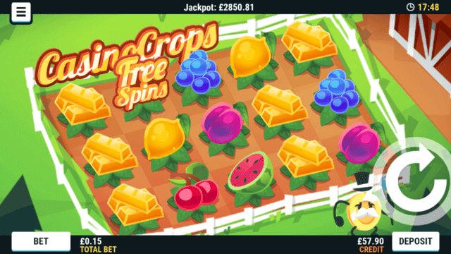 Casino Crops mobile slots by Mr Spin