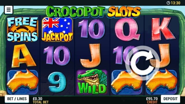 Playing Crocopot slots online slots at Mr Spin online casino