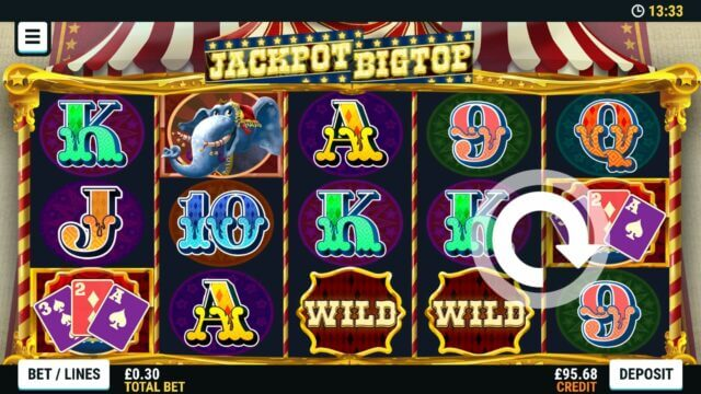 Playing Jackpot Big Top online slots at Mr Spin online casino