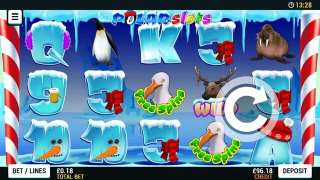 Playing Polar Slots online slots at Mr Spin online casino
