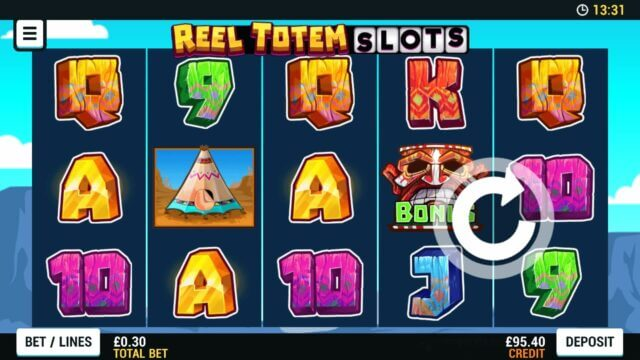 Playing Reel Totem Slots online slots at Mr Spin online casino