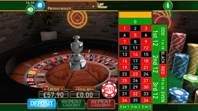 Roulette Gold mobile casino game by Mr Spin Casino
