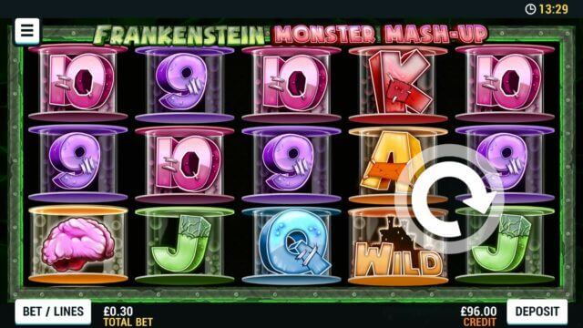 Playing Frankenstein Monster Mash-up online slots at Mr Spin online casino