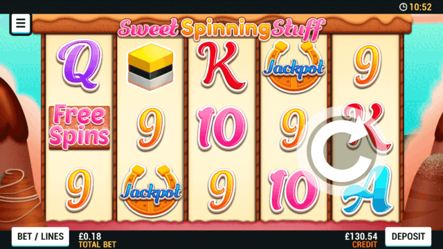 Playing Sweet Spinning Stuff online slots at Mr Spin online casino