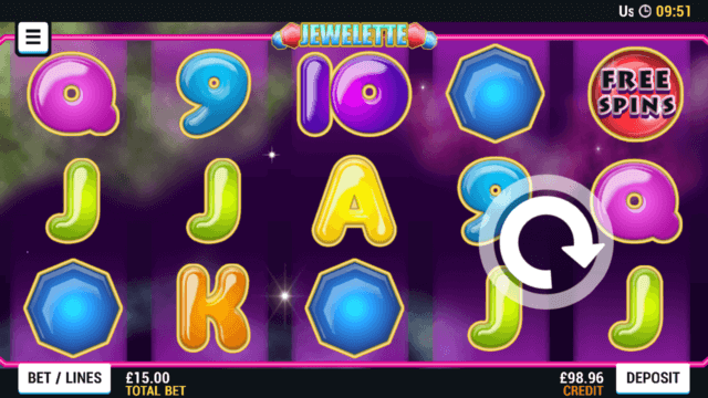 Playing Jwwelette online slots at Mr Spin online casino