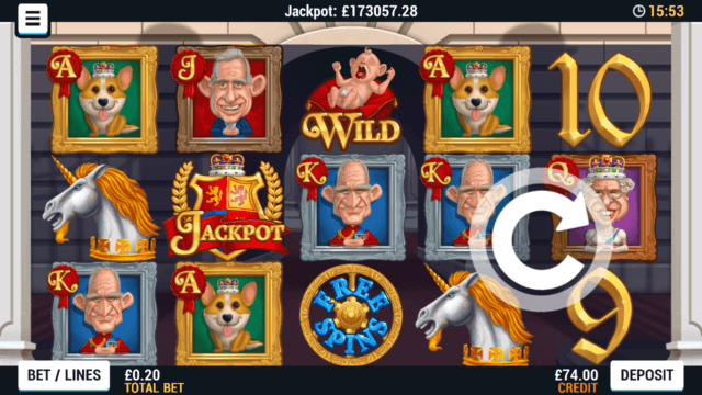 Playing Reel Royalty Online Slots at Mr Spin Online Casino