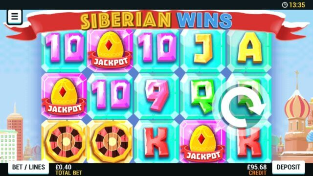 Playing Siberian Wins online slots at Mr Spin online casino