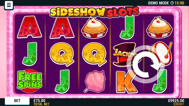 Sideshow Slots mobile slots by Mr Spin