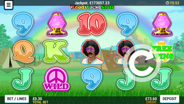 Playing Woodstock online slots at Mr Spin online casino