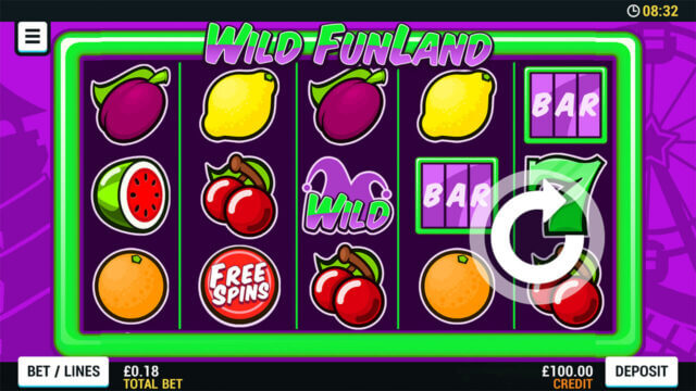 Playing Wild Funland online slots at Mr Spin online casino