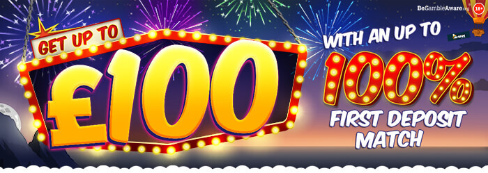 Mr Spin online casino - Get up to £100 with our 100% first deposit match bonus