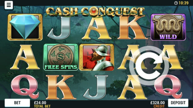 Playing Cash Conquest online slots at Mr Spin online casino