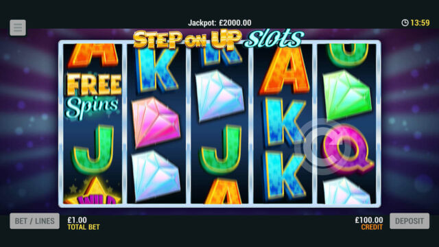 Playing Step on Up Slots online slots at Mr Spin online casino
