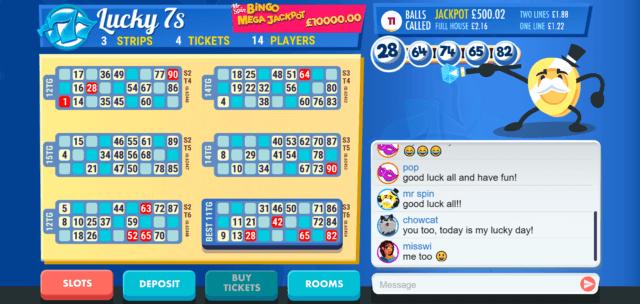Plating Mr Spin Online Bingo screenshot
