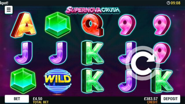Playing Supernova Crush online slots at Mr Spin online casino