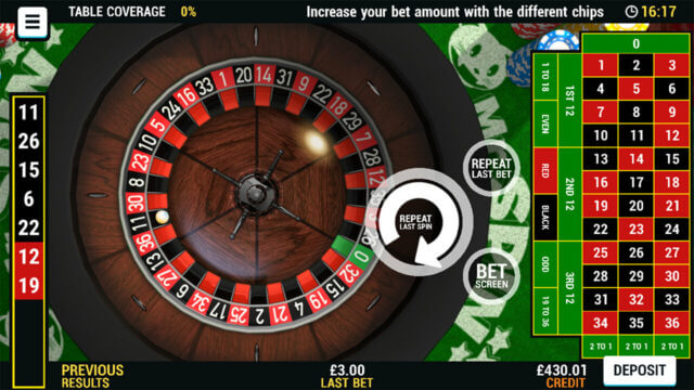 Playing European Roulette at Mr Spin online casino
