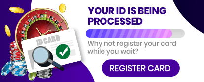 Register card at Mr Spin online casino - Your ID is being processed - Why not register you card while you wait?