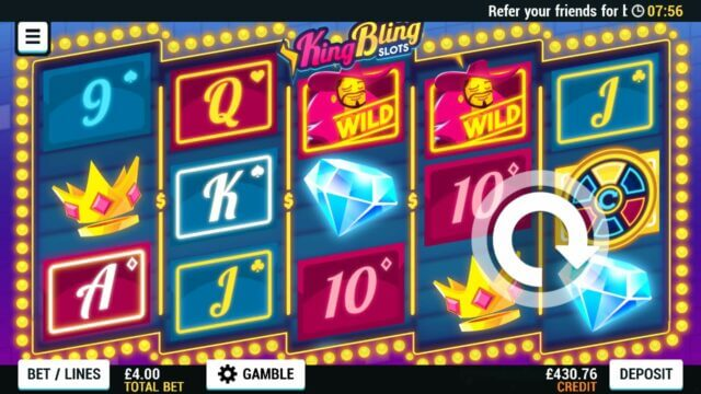 Playing King Bling Slots online slots at Mr Spin online casino