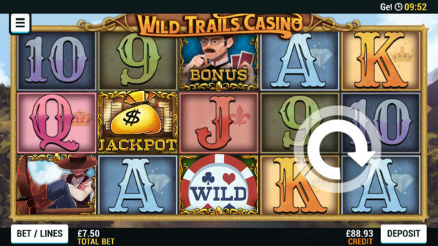Playing Wild Trails Casino online slots at Mr Spin online casino