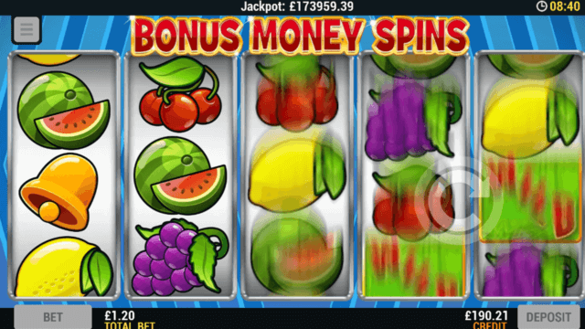 Playing Bonus Money Spin online slots at Mr Spin online casino