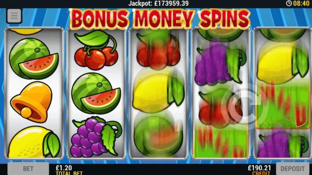 Playing Bonus Money Spin online slots at Mr Spin online casino