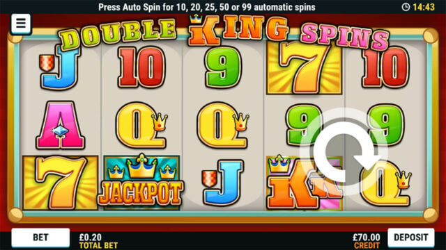 Playing Double King Spins online slots at Mr Spin online casino