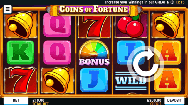 Playing Coin of Fortune mobile slots at Mr Spin Casino