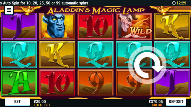 Playing Aladdin's Magic Lamp online slots at Mr Spin Online Casino