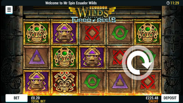 Playing Ecuador Wilds online slots at Mr Spin online casino