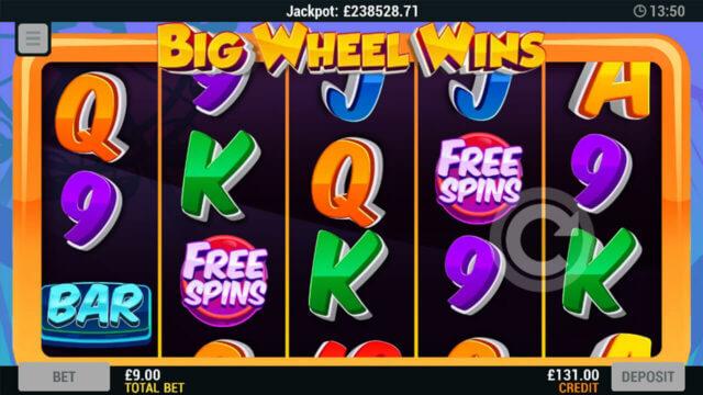 Big Wheel Wins online slots - in game screenshot