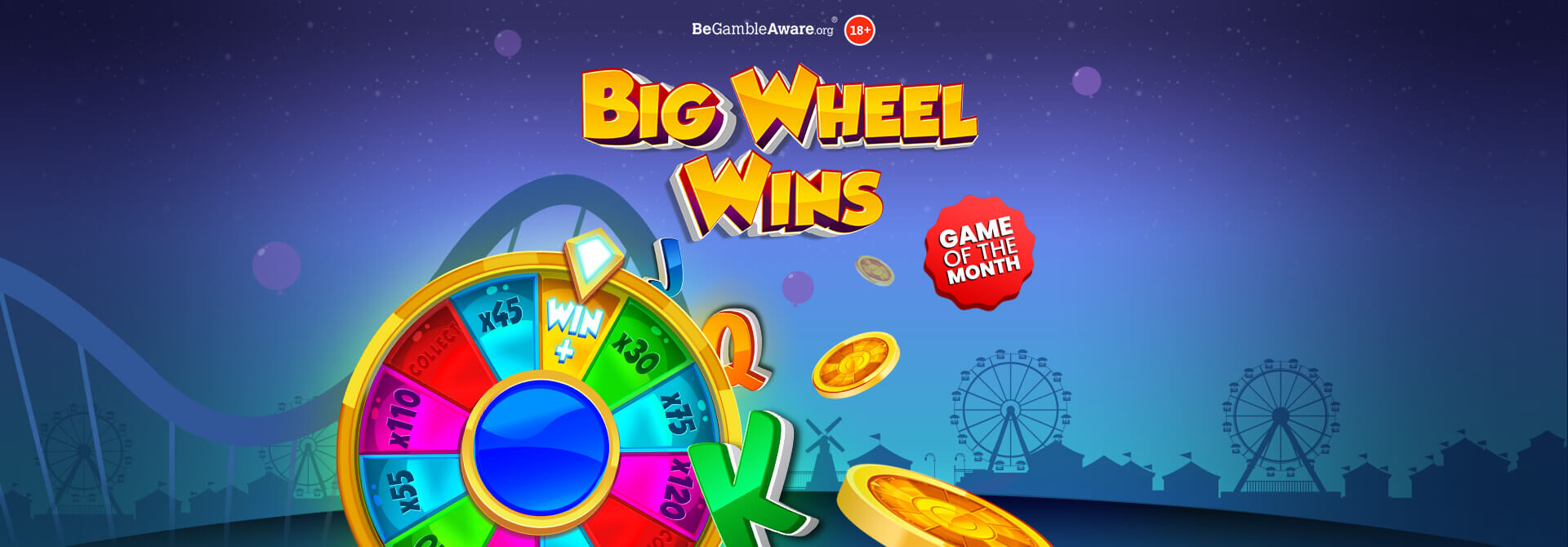 Get ready to take a ride on Mr Spin's latest game, Big Wheel Wins online slots!