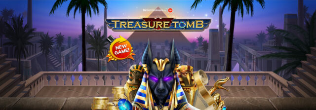 Take an Egyptian adventure with Treasure Tomb online slots!