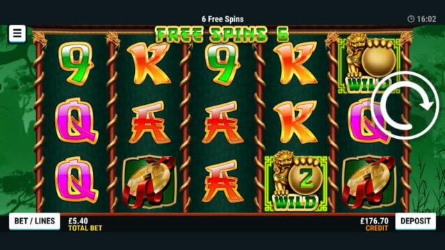 Golden Guardians - Mr Spin online slots - in-game screenshot