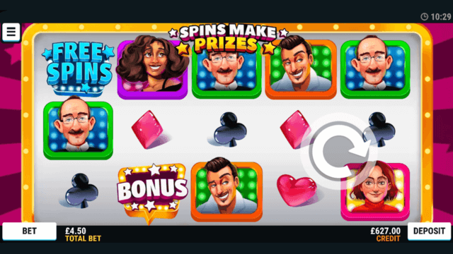 Spins Make Prizes online slots in game screenshot